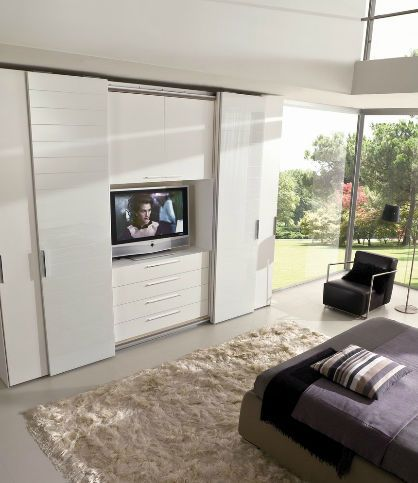 idee tv incorporat 3 | armadio camera da letto con tv | Pinterest ...
