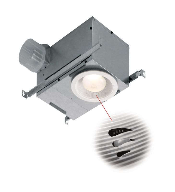 In The Bath Sensaire Technology Senses Rapid Rises In Humidity To Turn Fan On And Also Turns Off A Bathroom Fan Light Bathroom Exhaust Fan Ceiling Exhaust Fan