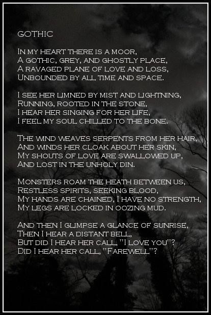 A Visually Enhanced Version Of Gothic Poem From The Collection THE