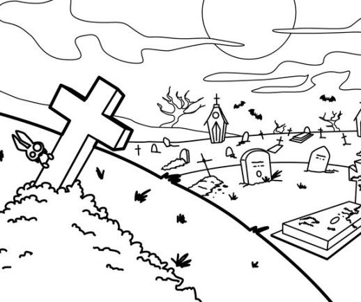 scary coloring pages halloween monster Coloring4free ... | 433x518
