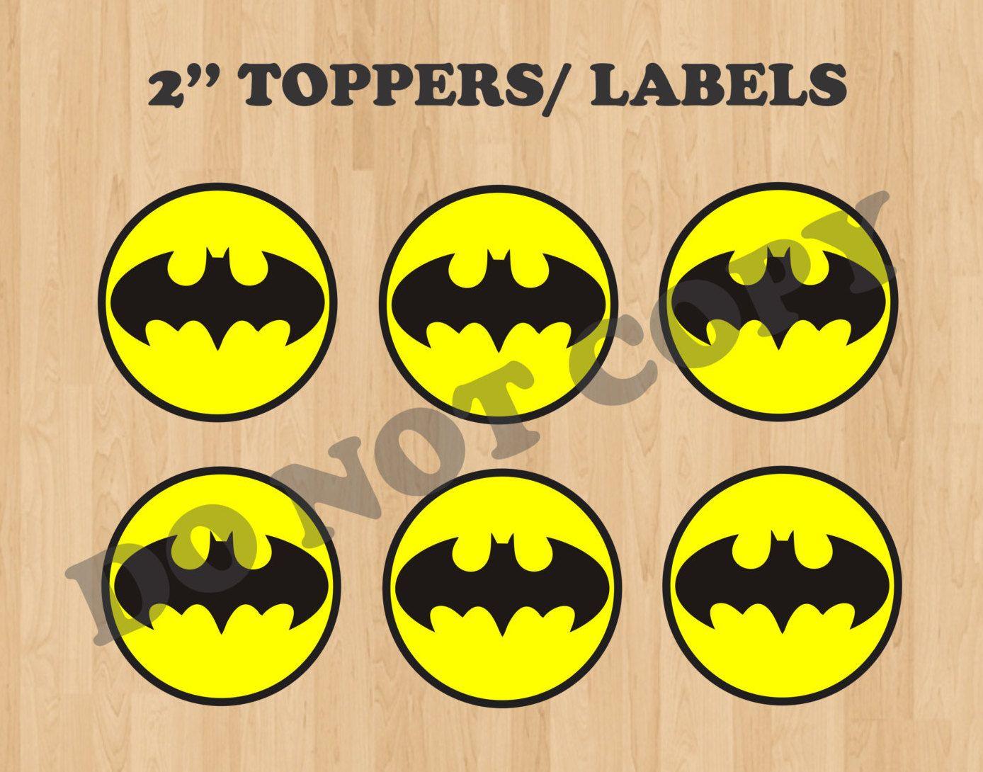 Batman Cupcake Toppers/ Batman Birthday Party/ Batman logo ...