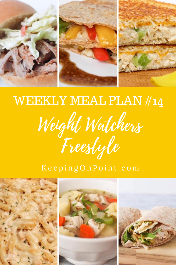 Weight Watchers Freestyle Weekly Meal Plan No. 14 images