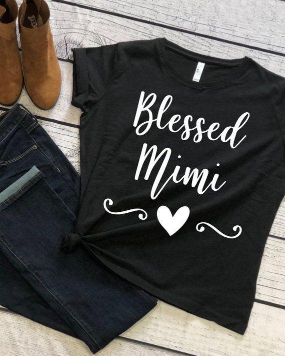 fda344cb Blessed Mimi - Mimi shirt - Grandma shirt - Gift for Mimi - shirt for mimi  - Mimi Life Shirt - Mimi