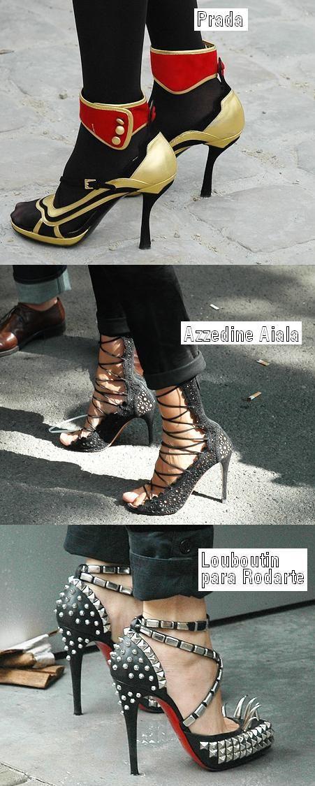 Existem sapatos que nós só vemos (pessoas usando) em Paris. Uh lala!