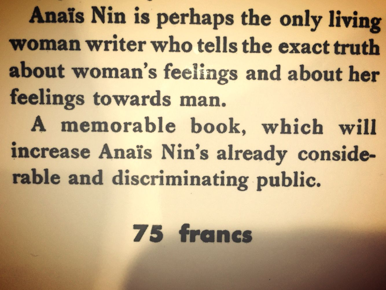 The Winter of Artiface, book sleeve | My Anais Nin. The profound ...