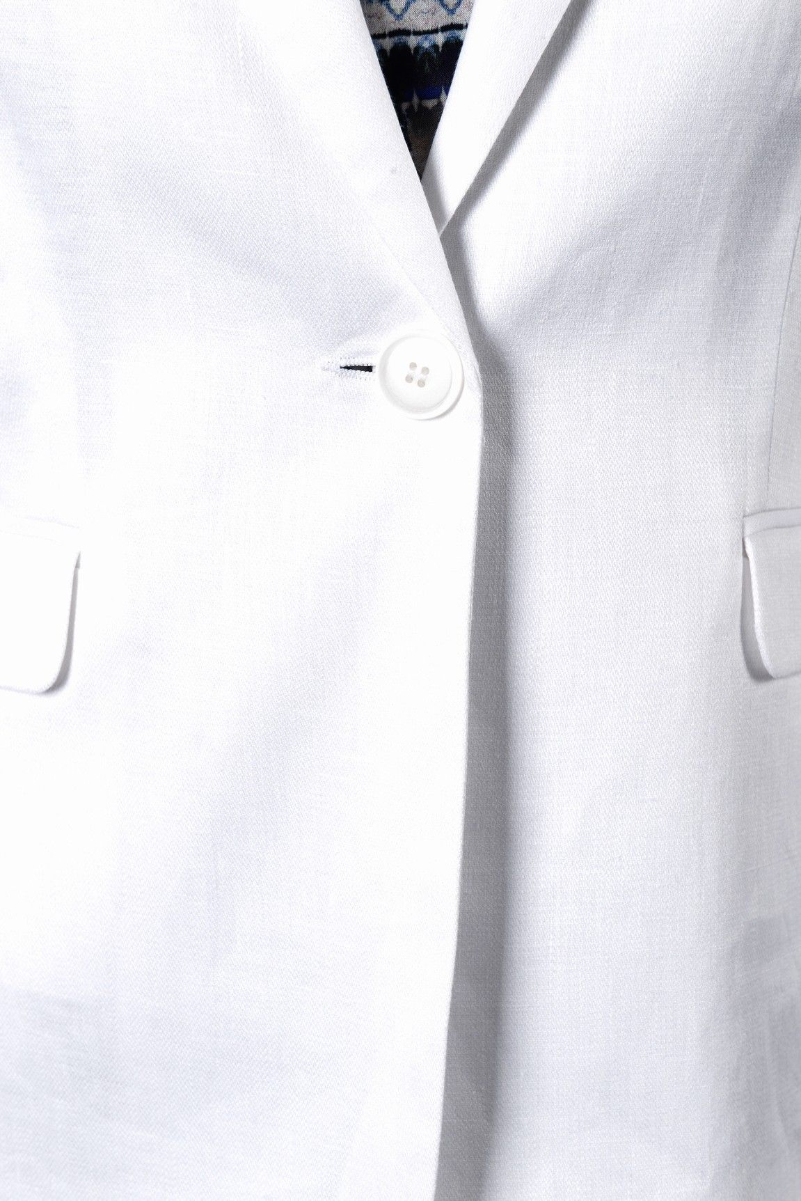 af39c28d22a6 Panache veste ml - Antonelle Réf   17VE5990 Veste en lin col tailleur  PANACHE 1 bouton