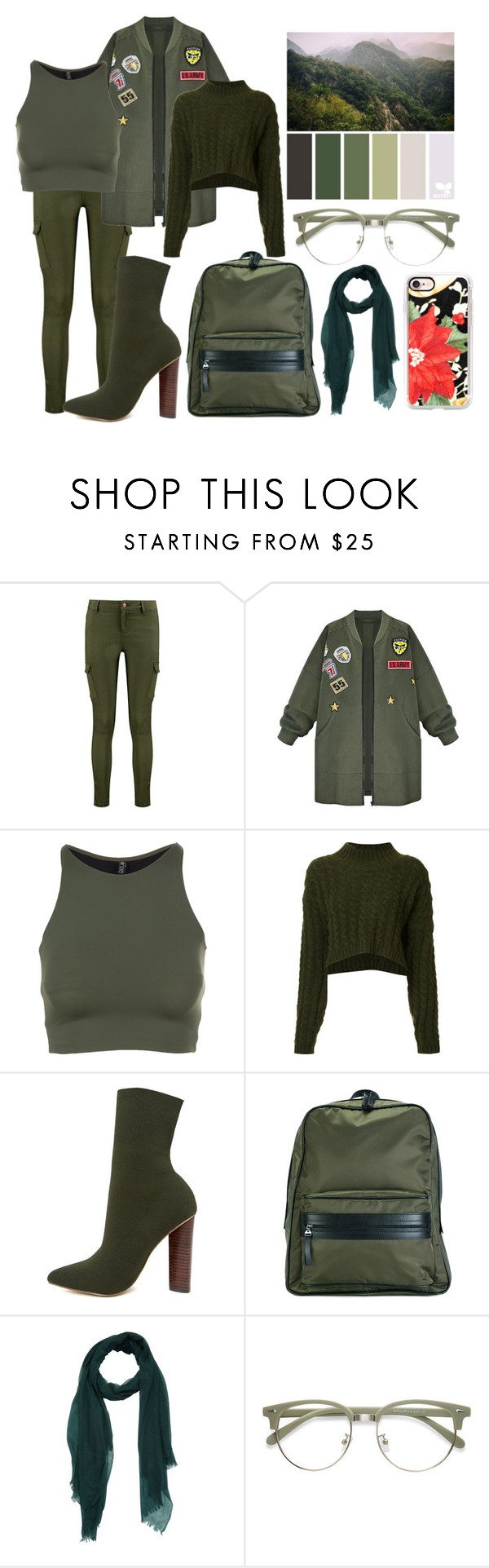 """green"" by vaxentino on Polyvore featuring moda, Boohoo, WithChic, Onzie, Vivienne Westwood Anglomania, Steve Madden, Maison Margiela e Casetify"