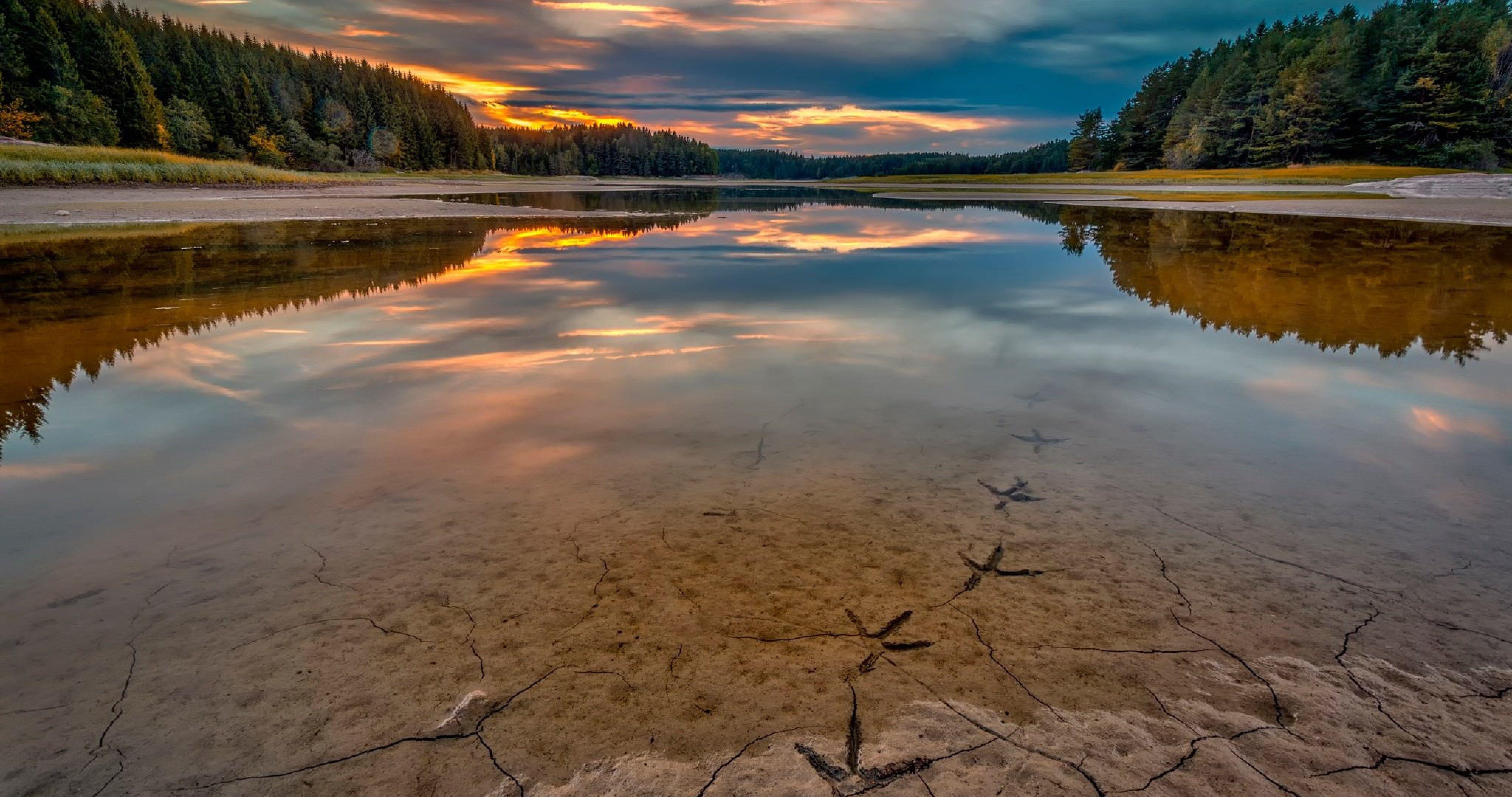Full Hd Wallpapers Sunsets River In Norway 4k Ultra Hd Wallpaper Ololoshenka Tree