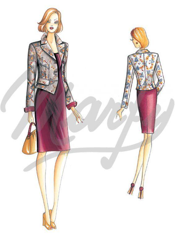 Patrón de costura Chaquetas / Chal 3022   Marfy   Pinterest ...
