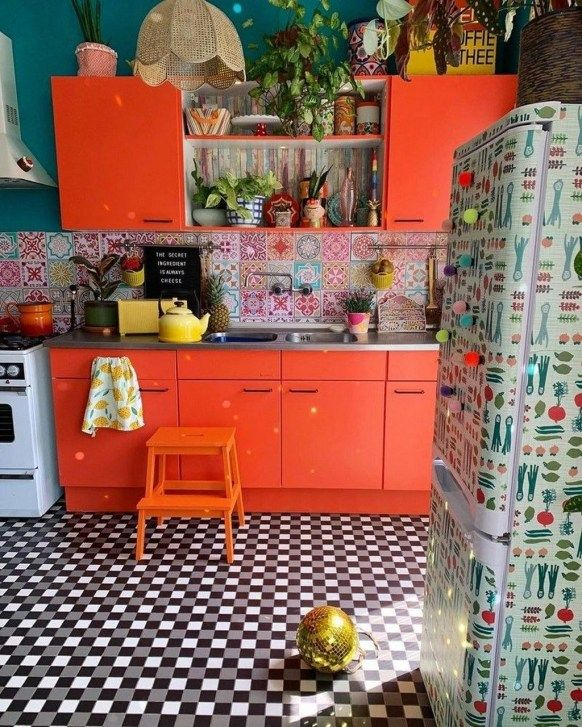 Unique Small Kitchen Island Ideas To Try: 20+ Unusual Bohemian Kitchen Decorations Ideas To Try