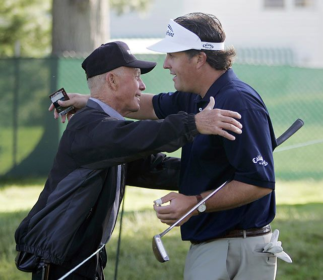 Phil Mickelson with his dad