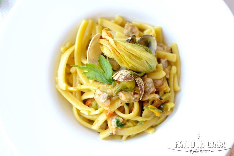 Spaghetti al limone e vongole