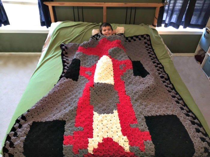 C2C Race Car Blanket | Crochet afghans | Pinterest