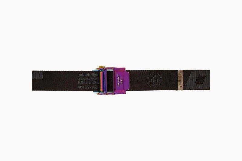 Off White Black 2 0 Industrial Belt In 2020 Belt Buckle Webbing Belt