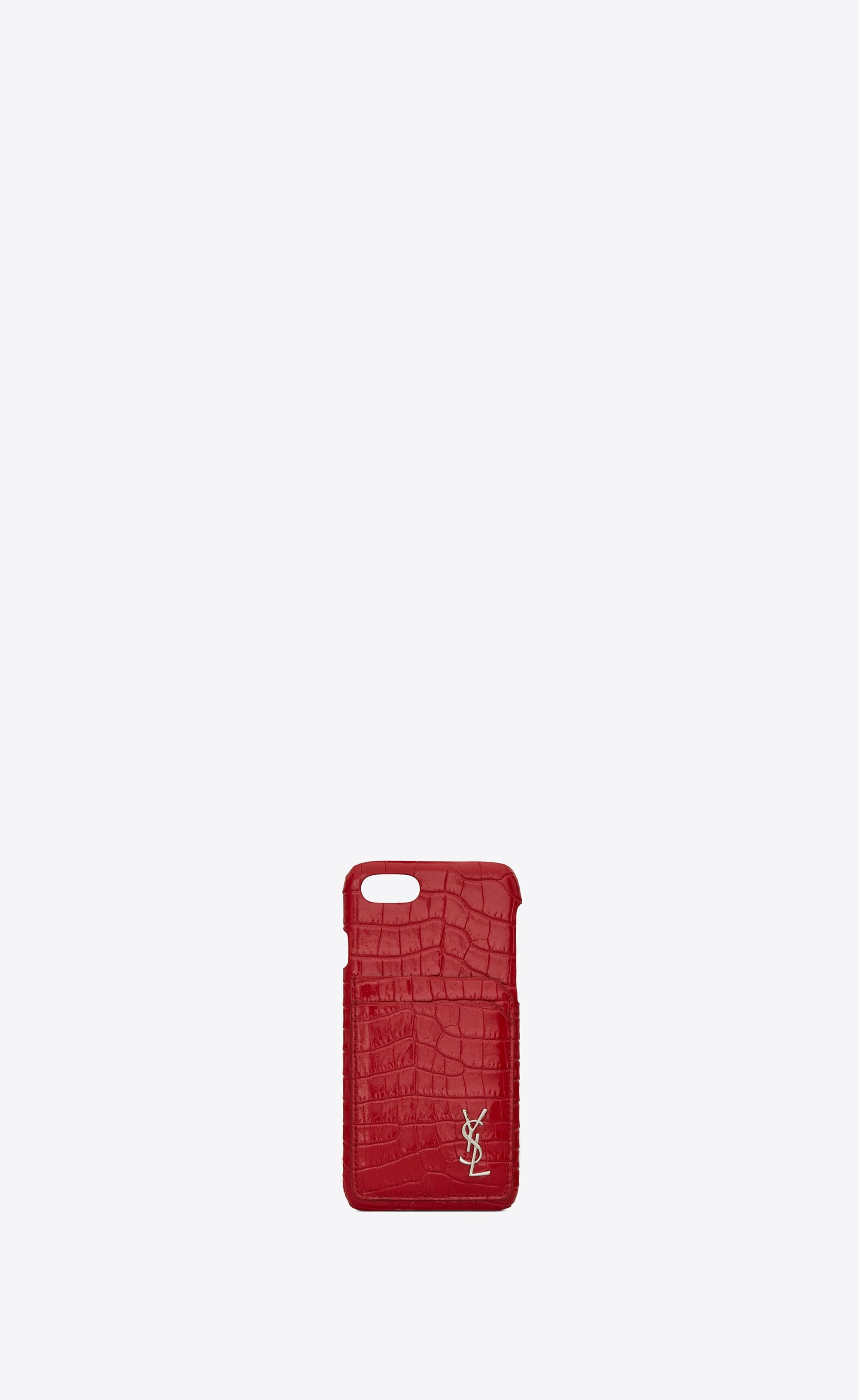 best website 2ff34 1a034 Monogram iphone 8 case in crocodile embossed shiny leather in 2019 ...