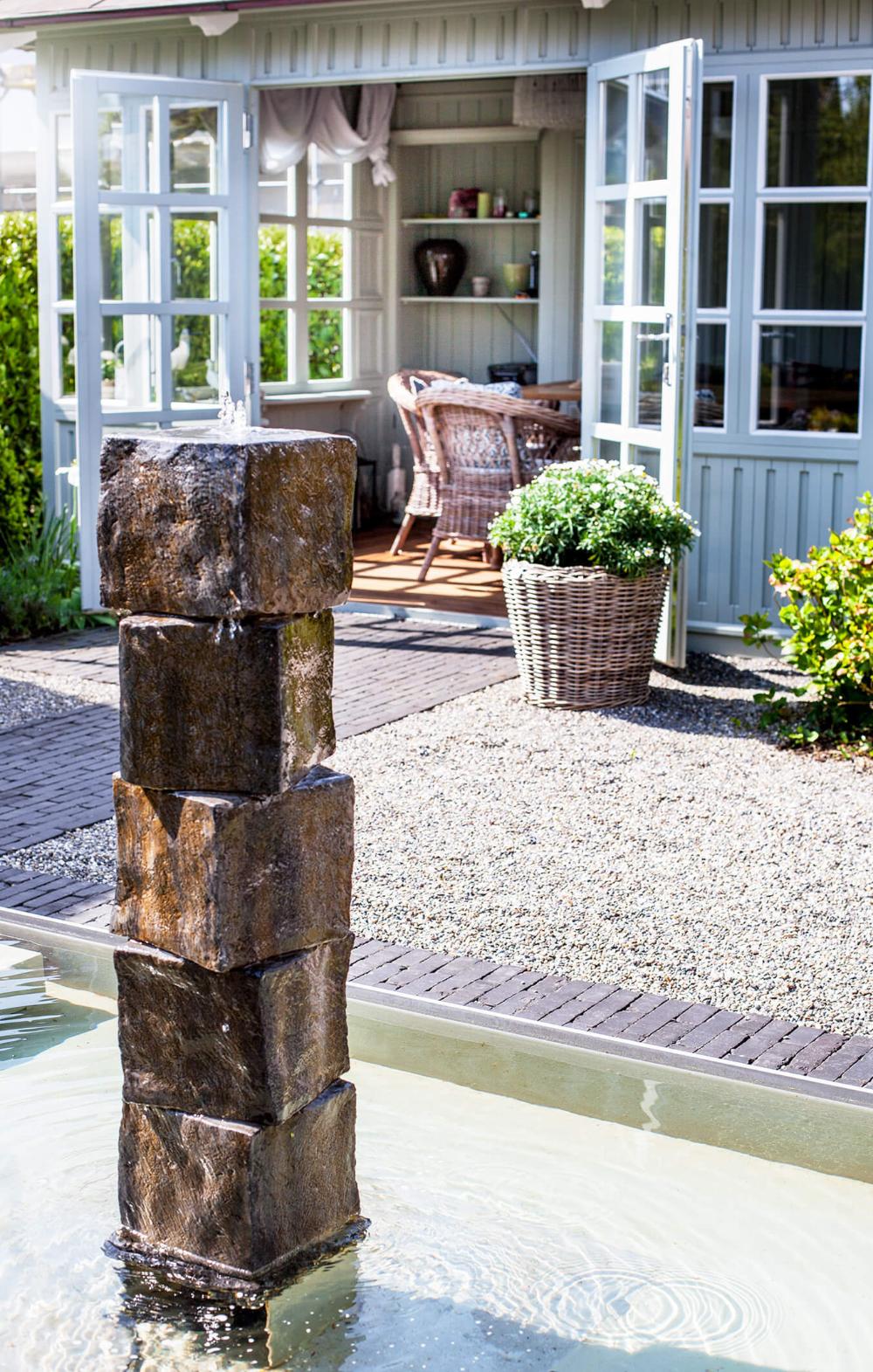 Garten Mit Wasser Wasserbecken Mit Speier Gartengestaltung Wasserbecken Garten