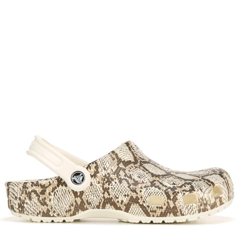 Crocs Women's Classic Clog Shoes (White Snake) in 2020