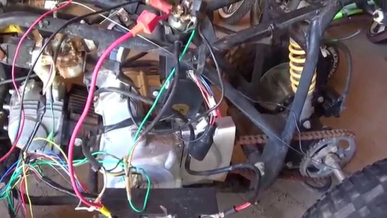 hight resolution of chinese quad 110 cc wiring nightmare youtube and 110cc atv diagram