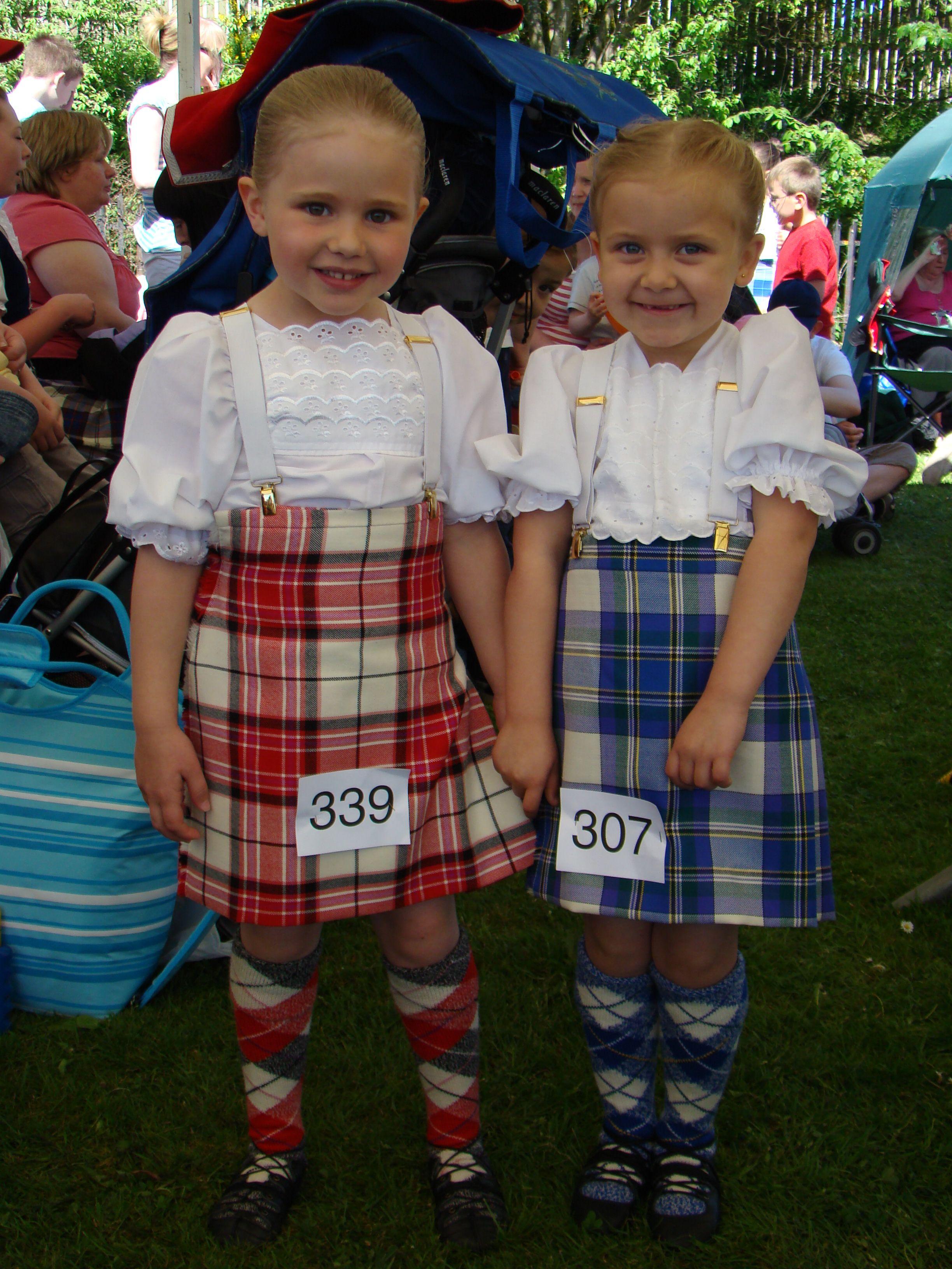 Two Wee Scottish Highland Dancers Scottish Highland Dance Country Fashion Highland Dance