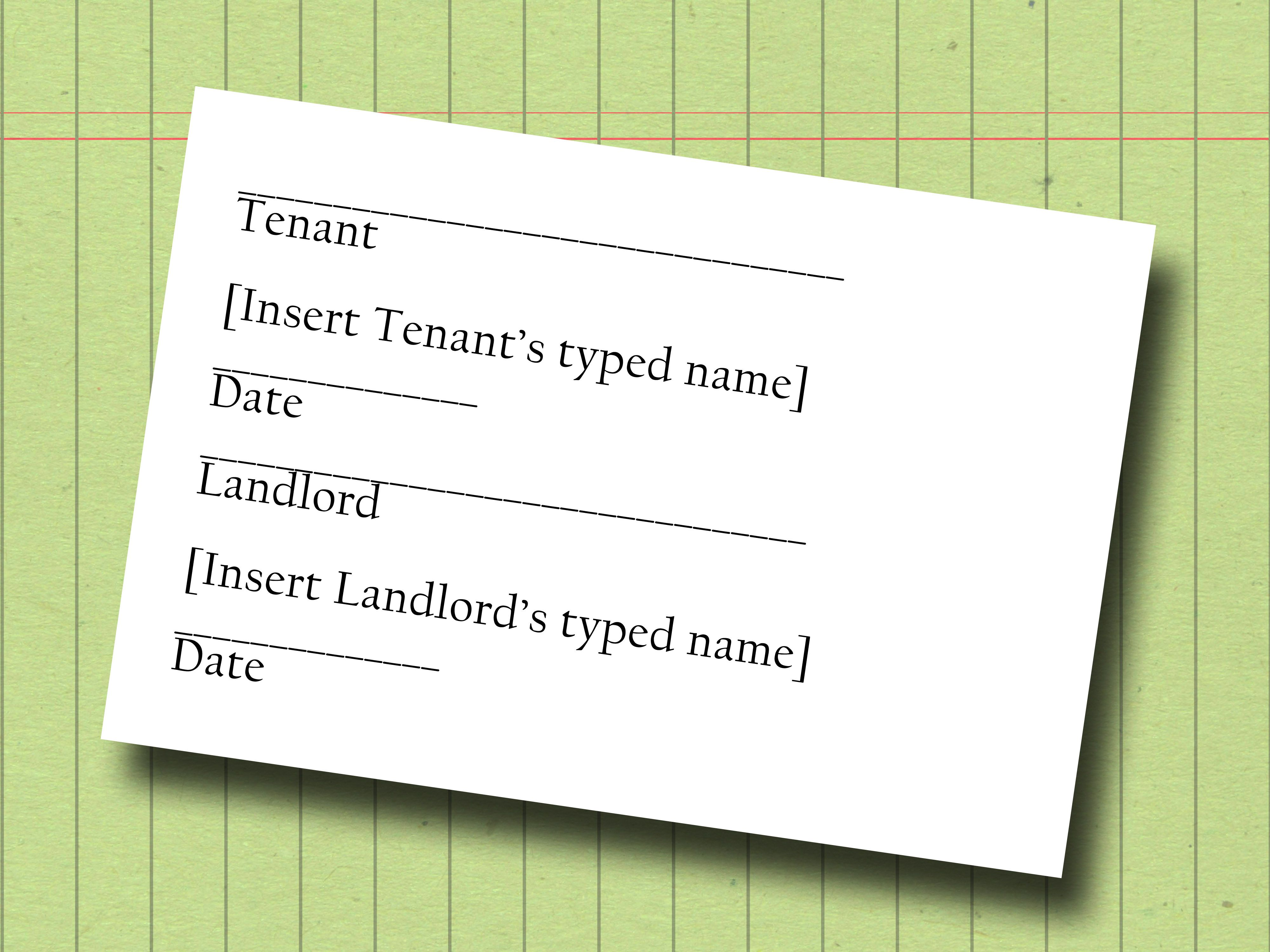 Write a Sublease Contract Writing, Being a landlord, The
