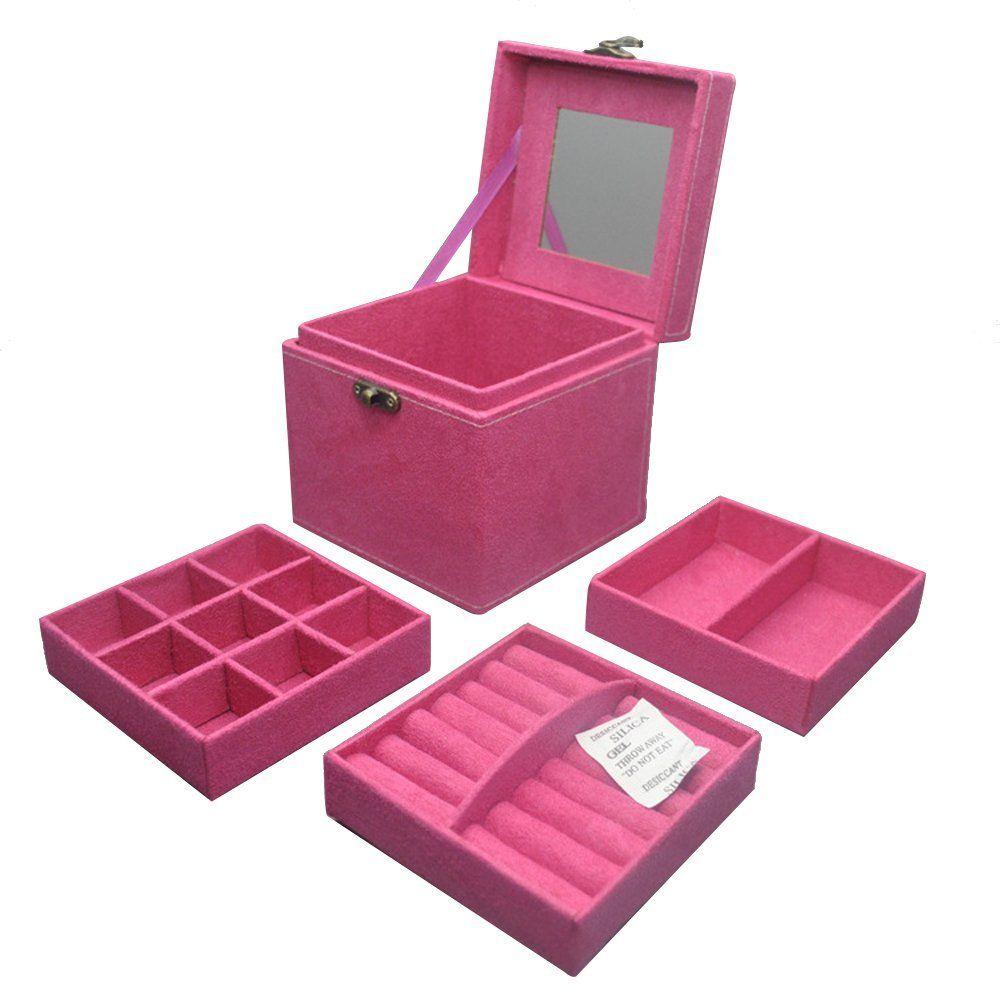 Contever Franela Caja De Almacenaje Maletin De Maquillaje Cosmtico