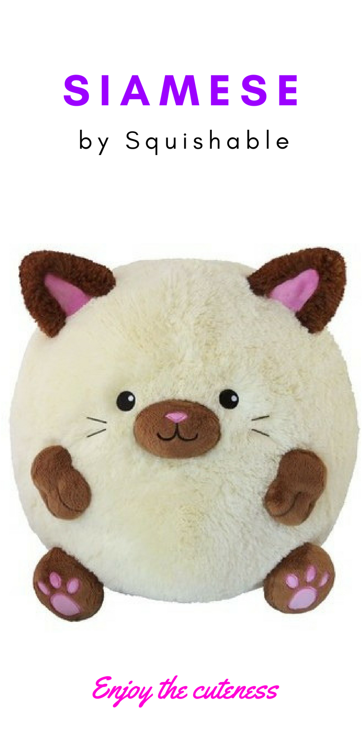 f07f9dc62f72 Siamese cat plush by Squishable. $41.99 This adorable round kitty is one of  the most