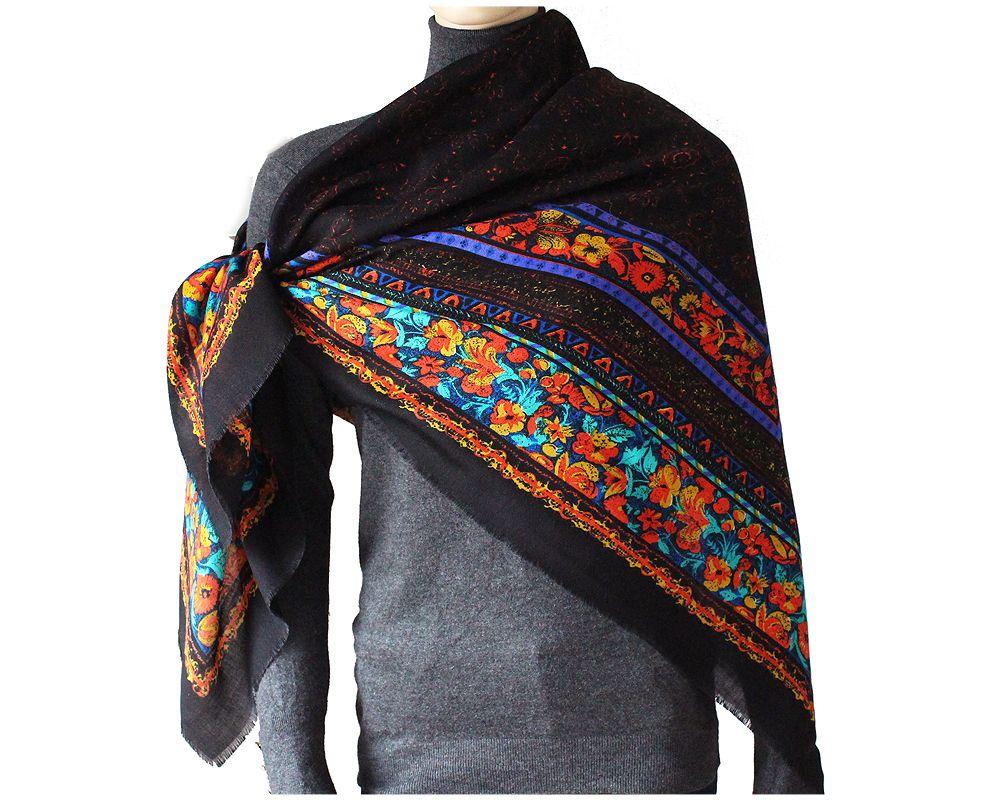 Ogromna Delikatna Chusta Vintage Folk Kolor Czarna 7090206281 Oficjalne Archiwum Allegro Moda Boho Hippie Boho Fashion