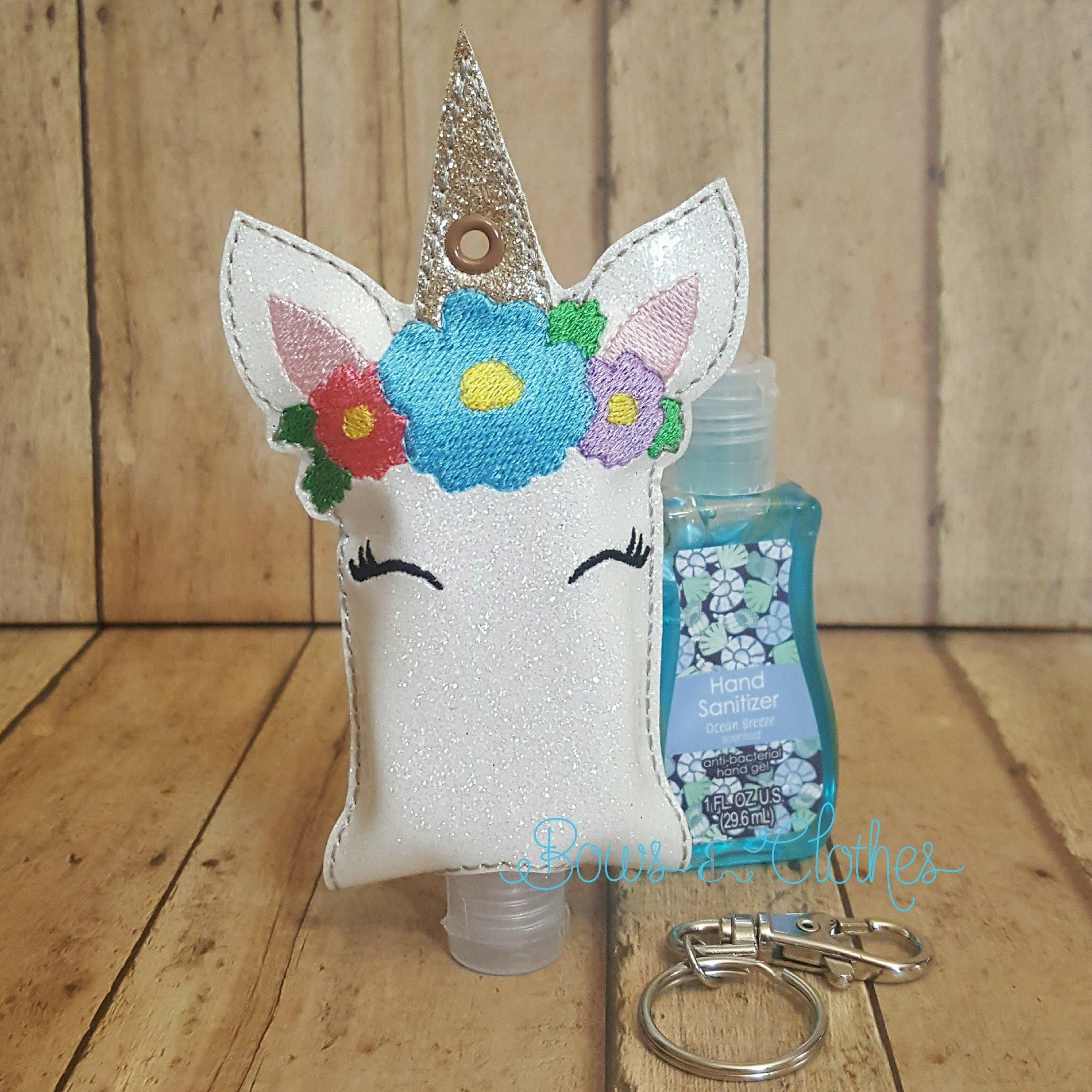 Unicorn Open Tab Hand Sanitizer Machine Embroidery Craft Fairs