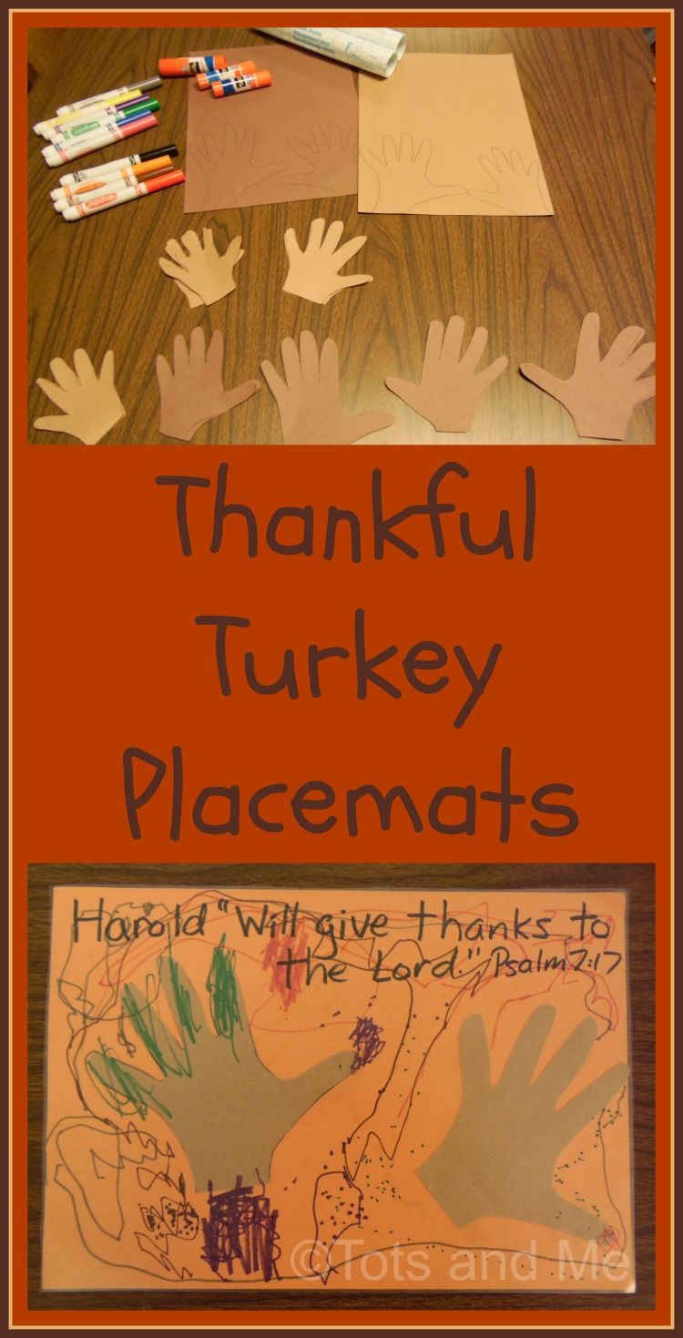 Tots and Me... Growing Up Together: Littles Learning Link Up: November 17, 2015 Thankful Turkey Placemats
