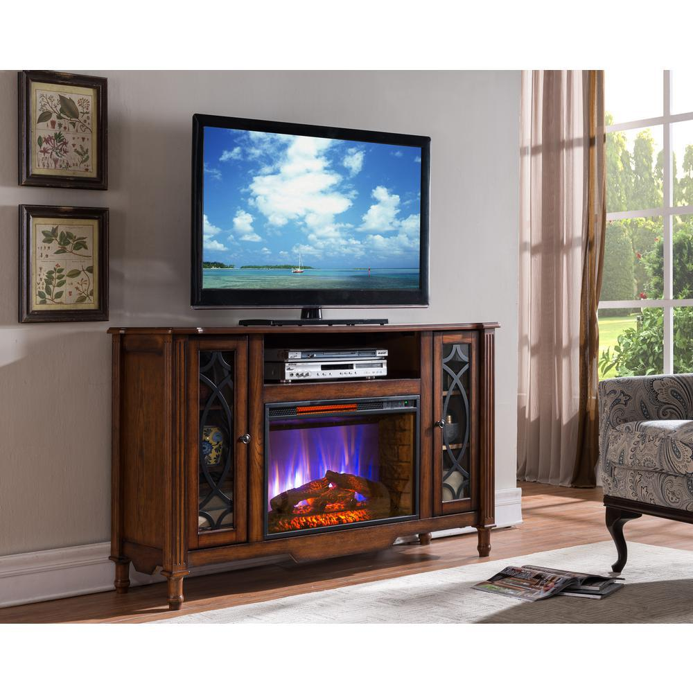 Sourcepro Bold Flame Valencia 55 In Media Console Electric
