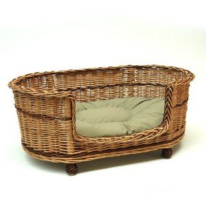 Extra Large Wicker Willow Dog Bed Basket Couch Bed Padded Cushion Uk Basket Dog Bed Dog Basket Wicker