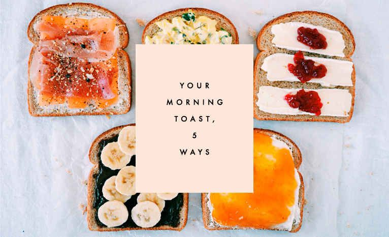 Toast for breakfast doesn't have to be the same old thing ...