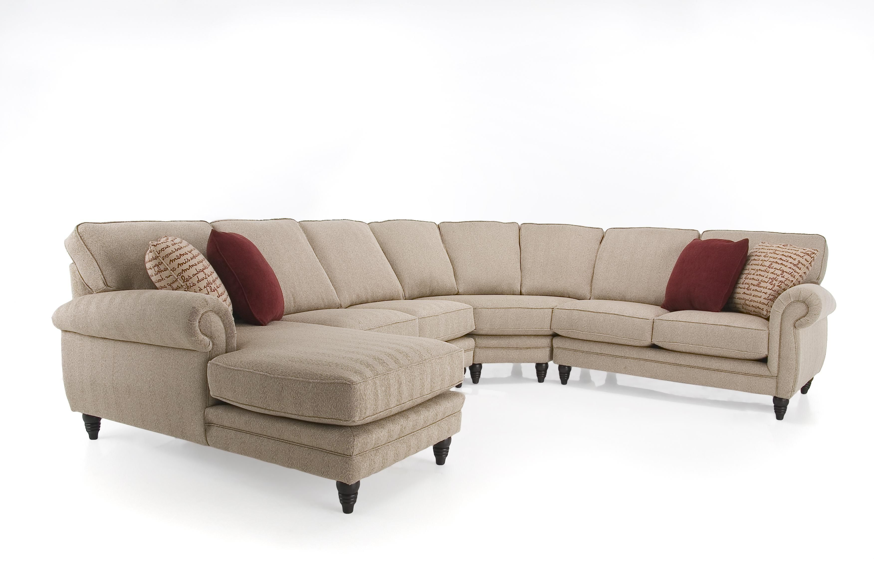 Lanza Two Piece Sectional Sofa with RHF Chaise by Palliser