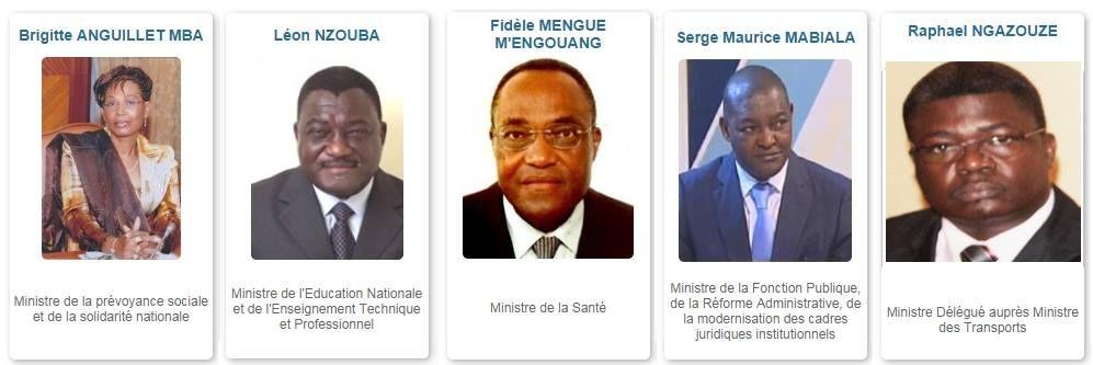 Menbre du gouvernement gabonais