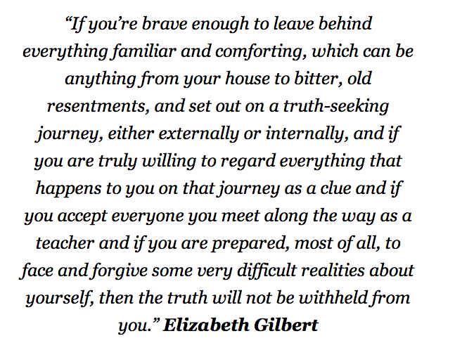 Elizabeth gilbert quote embrace the uncomfortable and the elizabeth gilbert quote embrace the uncomfortable and the unfamiliar fandeluxe Choice Image
