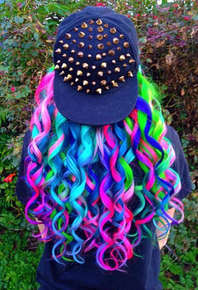beautiful and colorful hair crazy
