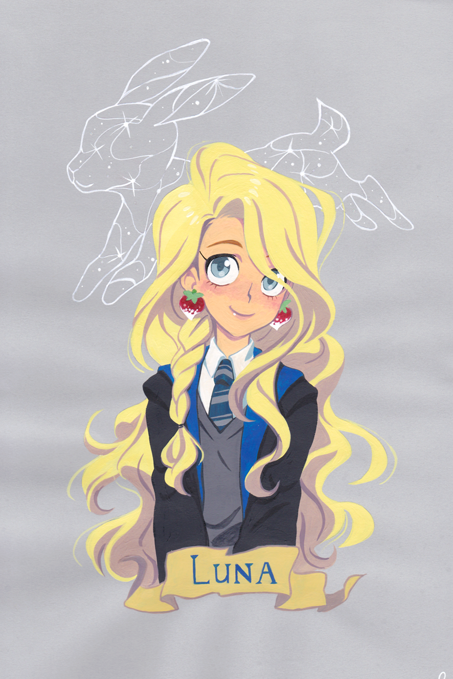 Luna Lovegood Via Galou Store Click On The Image To See More Harry Potter Anime Desenhos Harry Potter Wallpaper Harry Potter