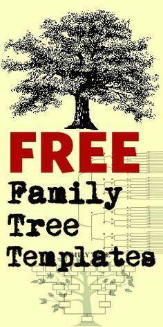 free family tree templates family tree pinterest genealogy