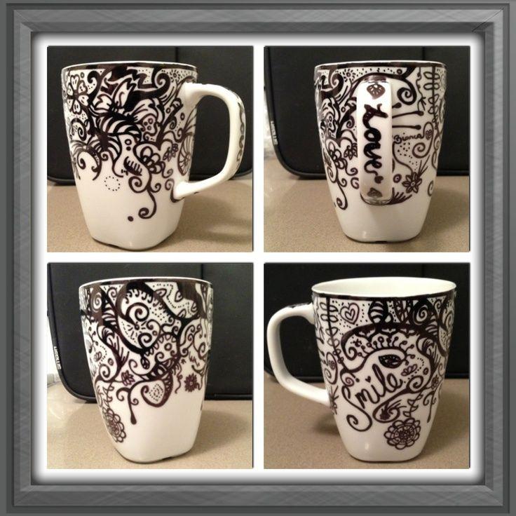 Diy Sharpie Mug Gifts Sharpie Mug Mugs Pinterest