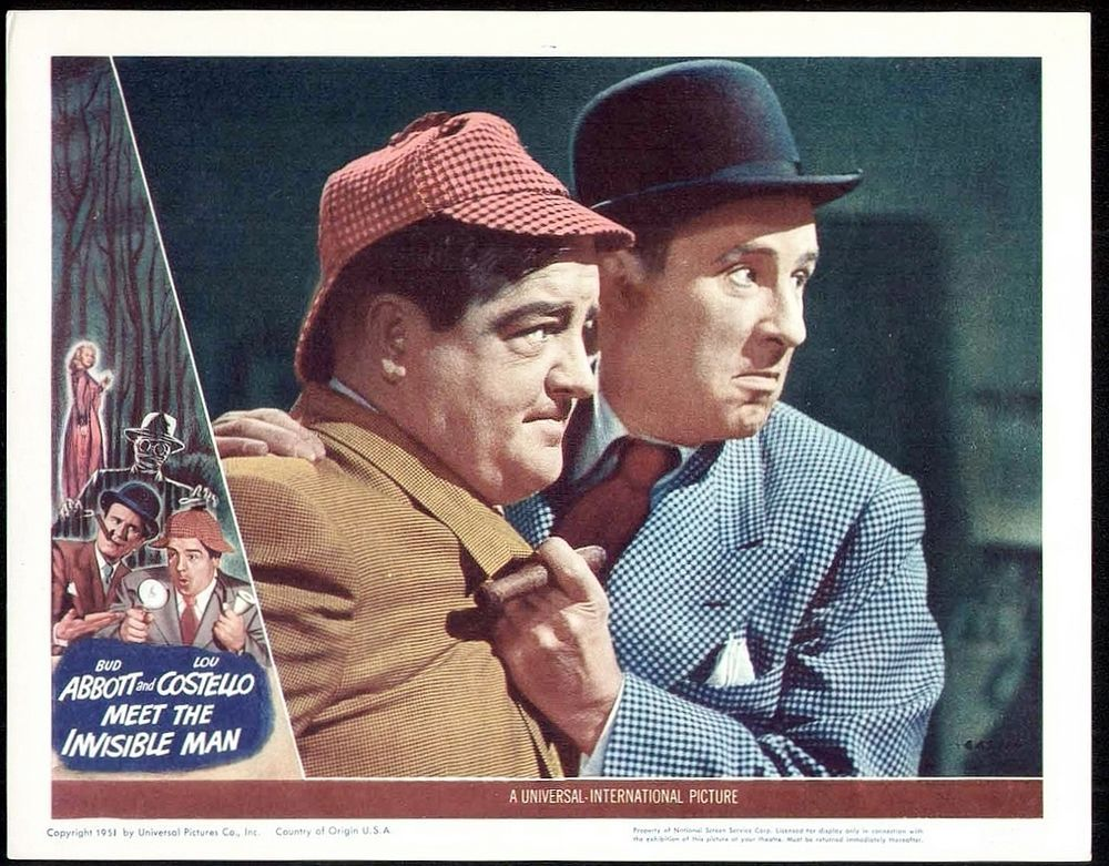 Abbott And Costello Meet The Invisible Man Awesome Classic Abbott And Costello Meet The Invisible Man Lobby Card Phot 8x10 Abbott And Costello