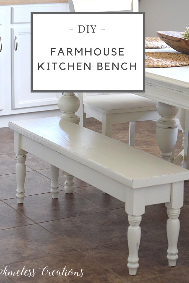 Diy farmhouse kitchen bench kitchen benches farmhouse kitchens