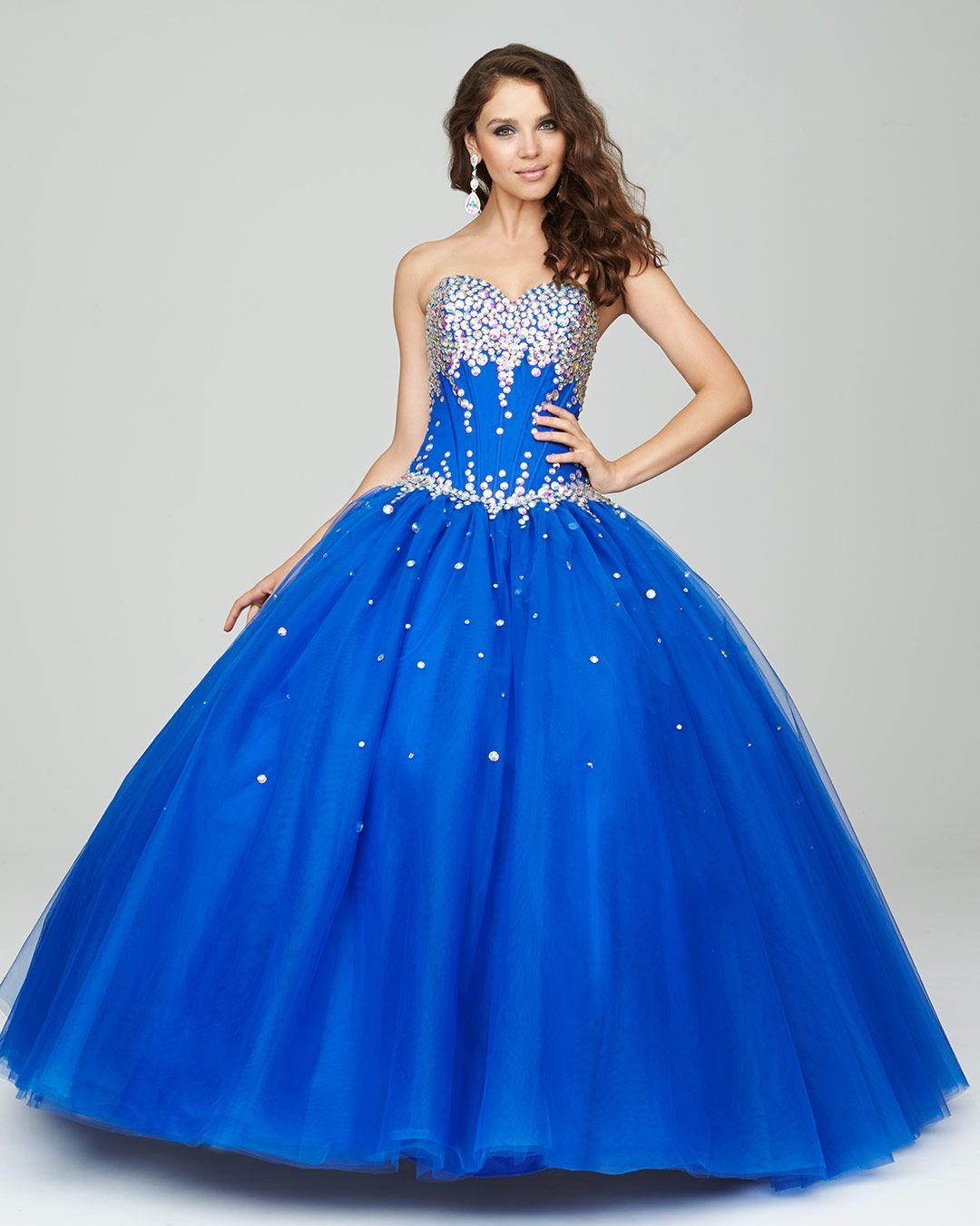 30 Vestidos De 15 Años Largos Y Cortos En Color Azul