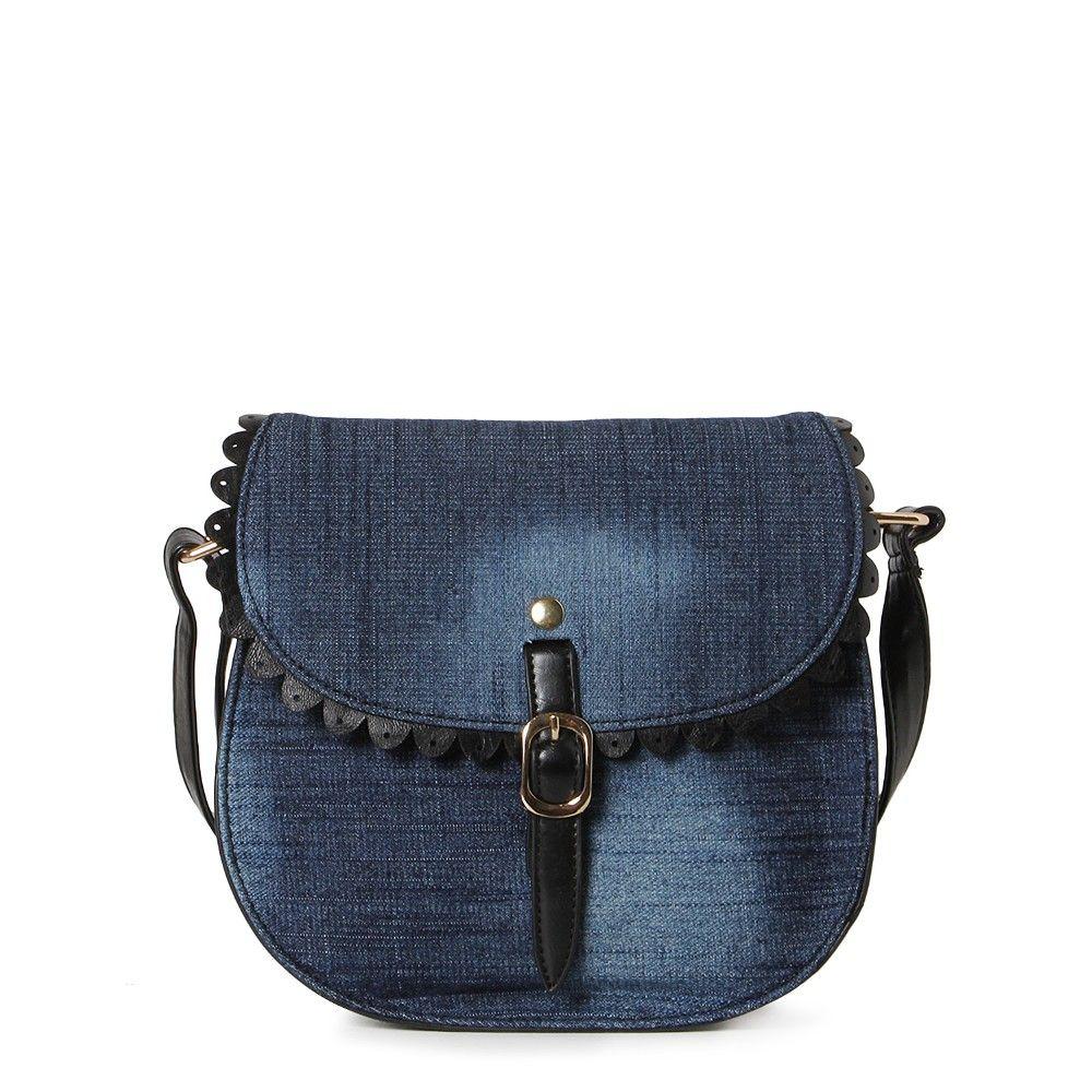 Bolsa De Tecido E Jeans : Bolsa carteiro jeans doce vida store docevida