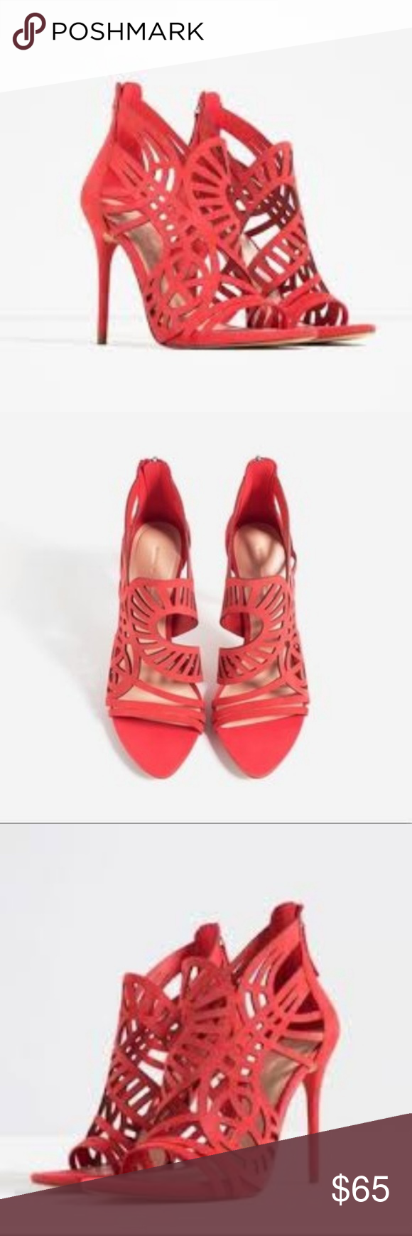 c4fdd6af1b8 Zara Coral Heels Brand new with tags. Never worn. Authentic. Color is more  coral. Heel is 4 inches. Feel free to make me an offer! Zara Shoes Heels