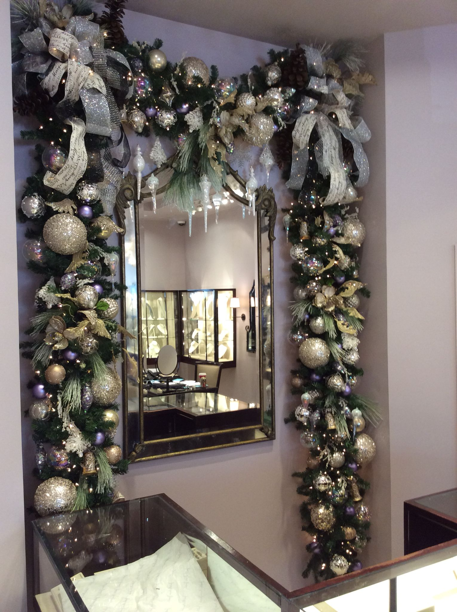 Christmas Cheer At The Jewelry Store Christmas Garland