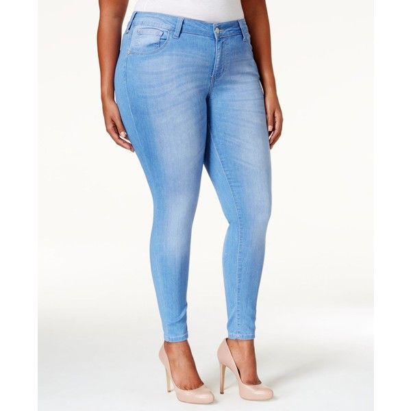 199a81a0116d4 Celebrity Pink Plus Size Outsiders Wash Super-Soft Skinny Jeans ( 45) ❤  liked on Polyvore featuring plus size women s fashion