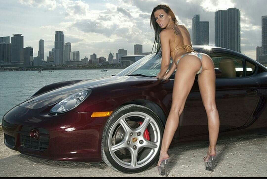 girl topless exotic cars