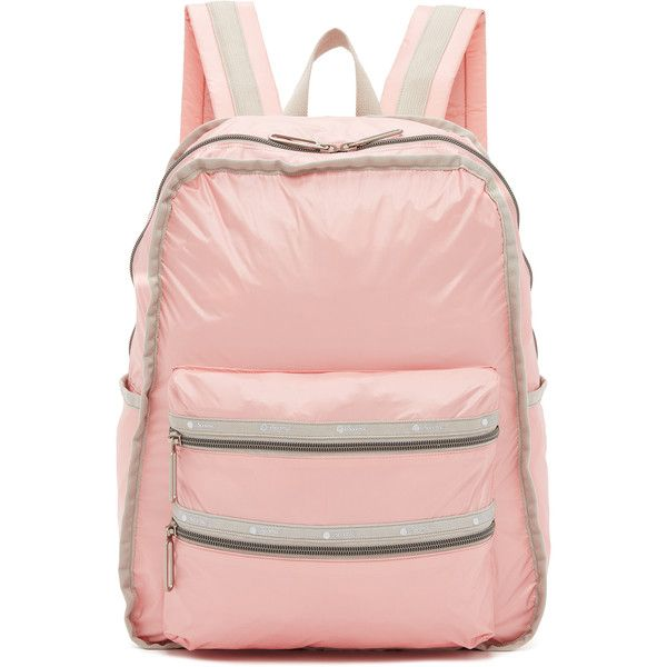 LeSportsac Functional Backpack ($100) ❤ liked on Polyvore featuring bags, backpacks, cherry blossom, wrap bag, padded bag, pink backpack, backpack bags and lesportsac