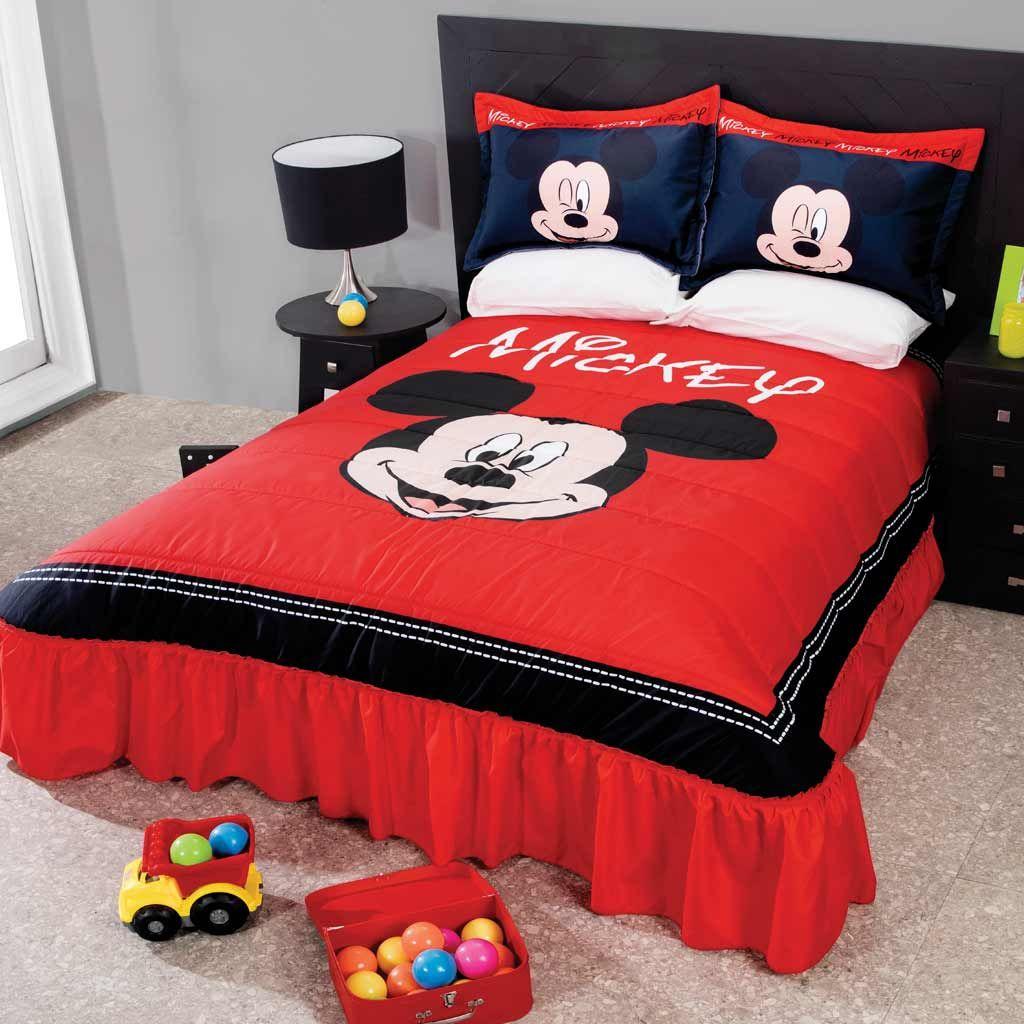 Mickey Clasic Dulcehogar Intimahogar Decoracion Hogar Colchas Edredones Calidad Cama De Mickey Mouse Dormitorio De Mickey Mouse Dormitorio De Bebe Varon