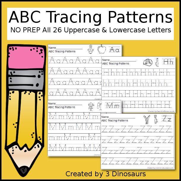 ABC Tracing Patterns | Vorschule, Buchstaben und Kind